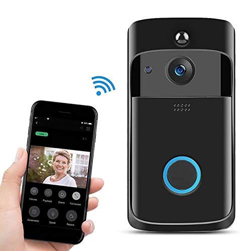 Ring video doorbell M4 720P Smart WIFI Timbre de video PIR visual de potencia ultra baja con 3 ranuras for batería, soporte for monitoreo de teléfonos móviles y visión nocturna y lente de cámara gran
