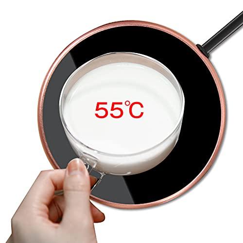 カップウォーマー 50℃~60℃恒温 ホット コースター マグ コーヒー カップ 快速加熱 保温 卓上 オフィス 自宅 コーヒーや牛乳や水などの温度を維持 ガラスや陶器、ステンレスに適用