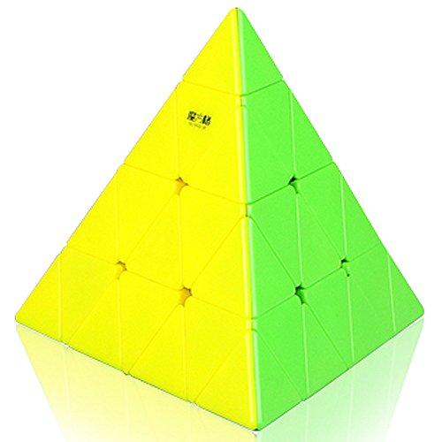 Mofangge 4x4 Pyramid Triangle Pyraminx Magic Cube Speed Cube Puzzle (Stickerless)