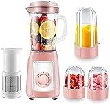 HYLK Blender Premium Smoothie Maker 300w, 22.000 Rev/min, Jarra de 1150ml (tritan), función trituradora de Hielo, Recipiente Adicional para Mezclar, lavavajillas, Azul, c, Rosa, d