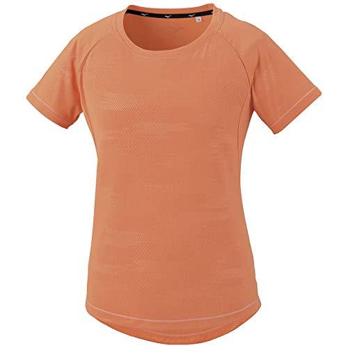 [Mizuno] トレーニングウェア ソーラーカットTシャツ 半袖 吸汗速乾 紫外線 32MA0323 レディース シャーベットオレンジ 日本 M (日本サイズM相当)
