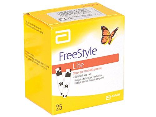 Abbott 23944 Freestyle Strisce Glucosio, Lite, Confezione da 25
