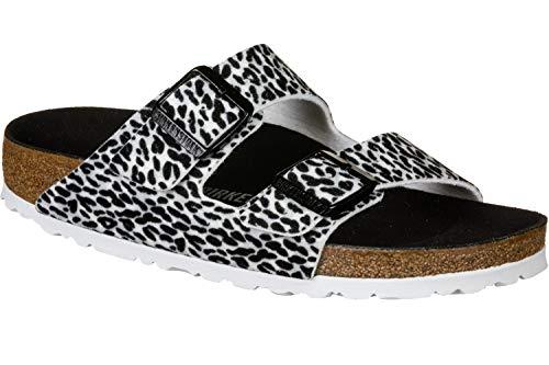 Birkenstock Arizona textiel luipaard Lilly Brown Beige sandalen