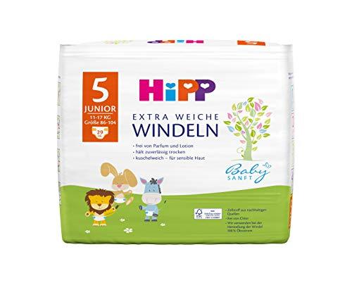Hipp Babysanft Windeln Junior 5 Carry (11-17kg, Größe 86-104), 3x29 Stk.