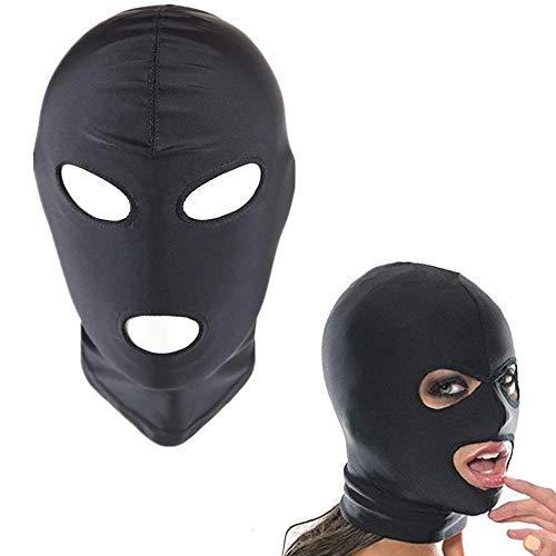 Máscara de juguete Máscara de fantasía Máscara elástica y transpirable, Abre los ojos y abre la capucha