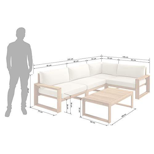 OUTLIV. Loungemöbel Holz Santa Cruz Loungemöbel Outdoor 5-teilig Akazie Teaklook Gartenlounge Loungegruppe - 4