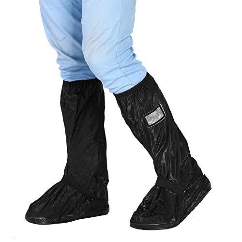 Pokrowce na buty, skuter motocyklowy rower kolarstwo wodoodporne pokrowce na buty i buty odporne na antypoślizgowe wielokrotnego użytku osłona na buty na deszczowy śnieżny dzień (XL - czarne)