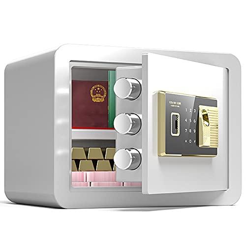 Caja de seguridad de seguridad, Caja fuerte de la pared, Caja de seguridad de la contraseña de huellas dactilares, Seguridad inteligente Caja fuerte, placa de acero de aleación/A / 35cm×25cm×2