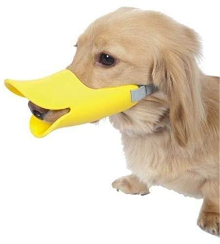 Chasiroma Maulkorb für Hunde, Silikon, Entenschnabel-Design, verstellbarer Pudel, Gesicht, Lippe, Maulkorb