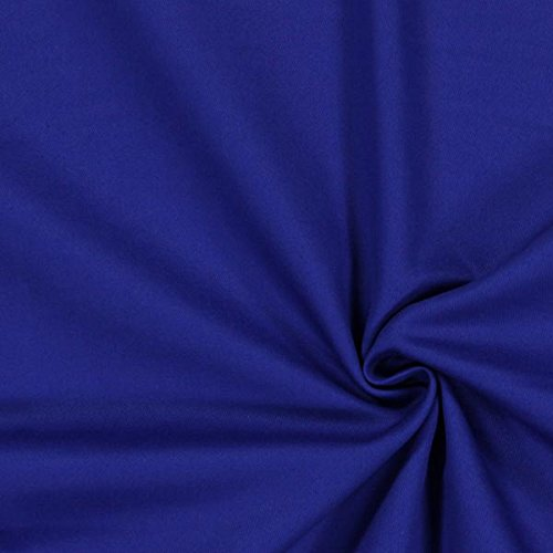 Baumwollköper Uni – königsblau — Meterware ab 0,5m — STANDARD 100 by OEKO-TEX® Produktklasse II — zum Nähen von Kissen/Tagesdecken, Gardinen & Taschen