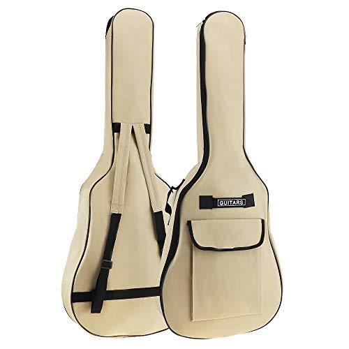 Origlam Funda para guitarra acústica de 40/41 pulgadas, funda impermeable para guitarra, mochila suave para guitarra, correa de hombro doble acolchada, tela Oxford, funda suave
