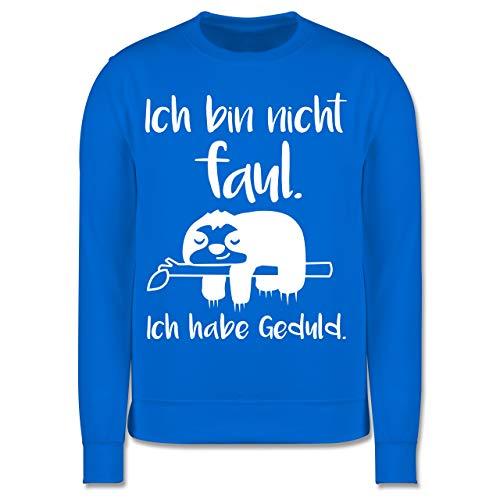 Shirtracer Sprüche Kind - Ich Bin Nicht faul weiß - 140 (9/11 Jahre) - Himmelblau - Pullover - JH030K - Kinder Pullover