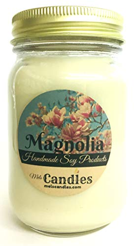 Magnolia 16 Ounce All Natural Country Jar Soy Candle Wonderful Floral Aroma