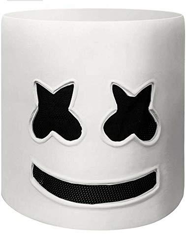 Marshmellow DJ Mask,Festival Foam Mask Helmet Cosplay for Men Women Kids