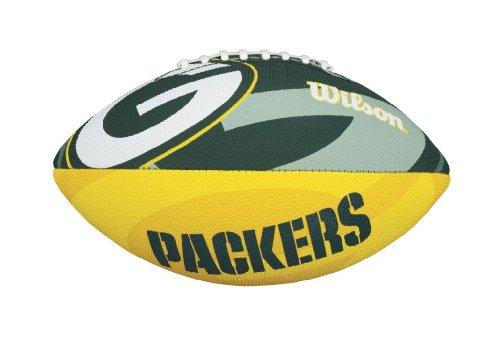 Wilson WTF1534XBGB Pelota de fútbol Americano NFL JR Team Equipo: Green Bay Packers Material Compuesto, para niños, Verde/Amarillo, Junior