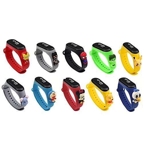 Uhr Kinder,Armbanduhr für Kinder Mädchen,Digitale Outdoor Sport Wasserdicht Kinderuhr mit LED Licht / Kalender mit Silikon Armband Armbanduhren für Mädchen Junge