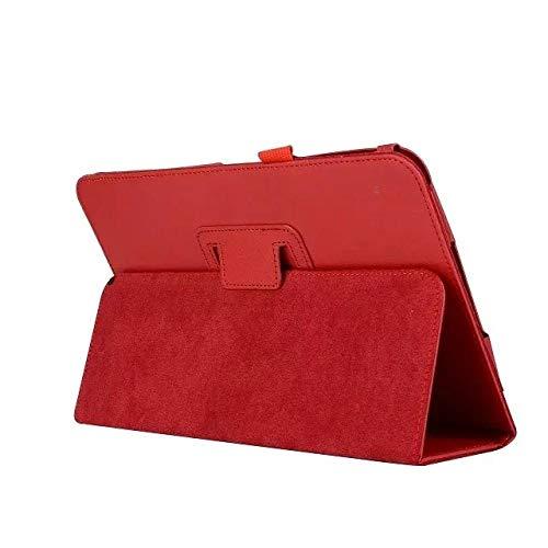 para Lenovo A10-30F TB2 X30L X30F Tablet 10.1 Funda Litchi PU Funda de Cuero para Funda para Lenovo Tab 2 A10-30 Funda Funda Funda-Rojo