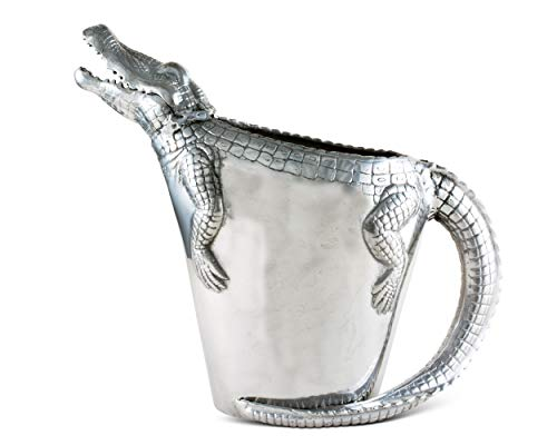 Arthur Court Alligator Wasserkrug für heißes / kaltes Wasser, Eistee und Saft, tropische Cajun Croc Gator Styling, 30,5 cm hoch