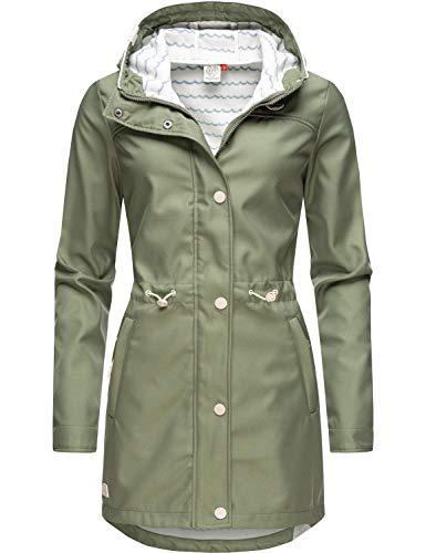 Ragwear Damen Übergangsjacke Kurz Mantel Halina Long Olive20 Gr. M