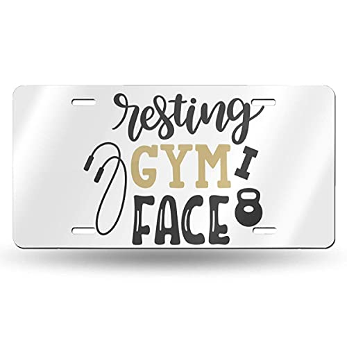Lawenp Resting Gym Face_ 6in X 12in Vintage Novelty License Plate Tag Sign License Plate for Car Truck Or Tractor