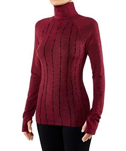 FALKE Damen, Langarmshirt Wool Tech. WT Long Sleeve Trend Merinowollmischung, 1 er Pack, Rot (Ruby 8830), Größe: XL