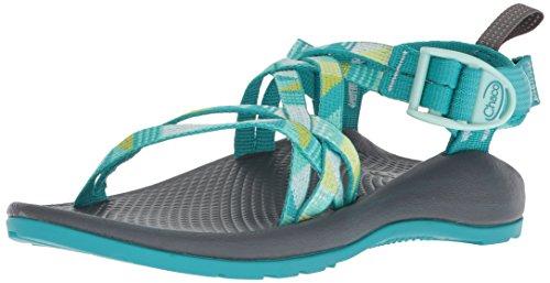 Chaco Girls' ZX1 Ecotread Sport Sandal, Puzzle Opal, 5 Medium Big Kid