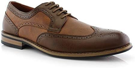 Mens Vintage Shoes, Boots | Retro Shoes & Boots Ferro Aldo Joseph MFA19266PL Mens Wing Tip Formal Oxford Lace Up Dress Shoes  AT vintagedancer.com