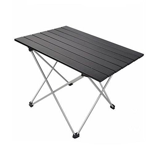 JFJL Tableau De Camping en Aluminium Tableau Pliable Simple Table Portable Ultra-Léger De Carte avec La Poche De Transport pour La Randonnée Pique-Nique Plage Bateau Trekking
