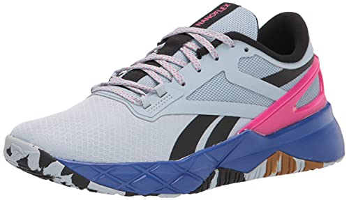 Reebok Women's Nanoflex Tr Cross Trainer, Gable Grey/Black/Pursuit Pink, 8