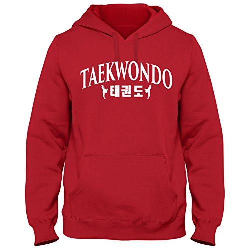 Hoody Hoodie Taekwondo Korea Mixed Kampfsport Martial Arts Shirt, Größe:XXL, Farbe:rot/Weiss