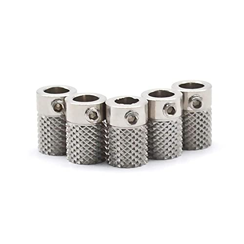 JRUIAN Printer Accessories 1/2/5pcs for Ultimaker 2 UM2 Feeder Knurled Wheel Extruder Drive Gear Stainless Steel for 3D Printer Parts Bore 5mm Extruders Components (Size : 2 pcs) (Size : 2 pcs)