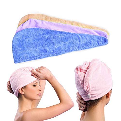 ASOSMOS Frauen Haar trocknender Hut Make uppferdeschwanz Halter Dame Wasser absorbierendes Mikrofaser Tuch Bad Kappe