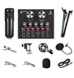 BM800 Live Broadcast Equipment Full Set of USB Microphone Live Sound Card Set Mobile Phone Sound Card K Song Game Recording Microphone Set