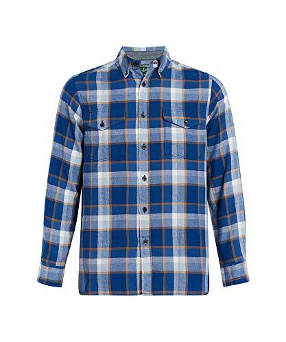 WOOLRICH Herren Eco Rich Stone Rapids Shirt Button Down Hemd, Alpine Blue, Klein