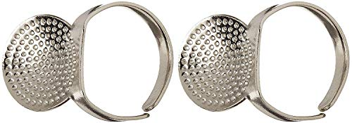 Read About Clover Adjustable Ring Thimble with Plate (2 Pack)