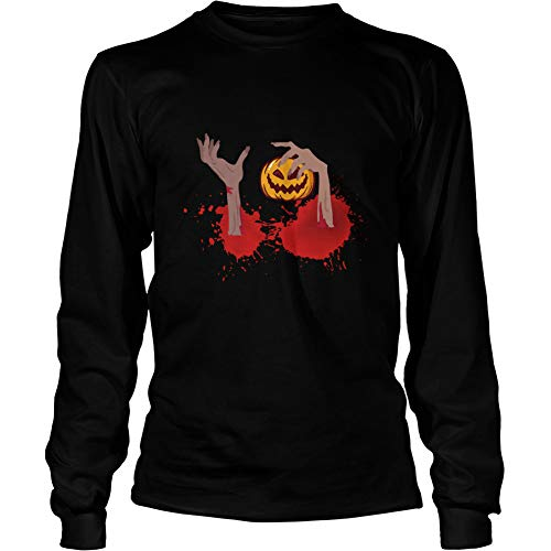 CARAZ Store Halloween Maternity Costume Baby Wants Candy Funny Unisex LS T-Shirt 70181 S Black