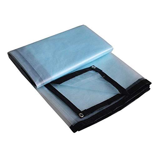 ZEMIN Bâche Protection Couverture Imperméable Toit Tente Garder Durable Voiture Transparent PVC, Clair, 160G/M², Plusieurs Tailles (Color : Transparent+Black Border, Size : 5m x 8m)