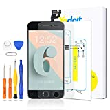 Yodoit for iPhone 6 Screen Replacement Touch LCD Display Digitizer Glass Full Assembly Camera Home Button Proximity Sensor Earpiece Speaker + Tool 4.7 inches (Black)