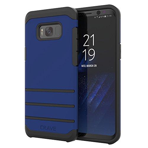 Crave Strong Guard Schutzhülle für Samsung Galaxy S8 Plus, Marineblau