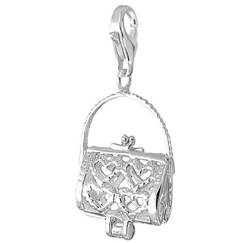Encantos del corazón MELINA colgante del bolso se puede abrir plata 925 1801887