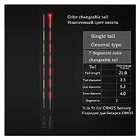 電池なしの1ピースインテリジェント光学フロートテールインタフェース5.2mm色変更可能なテール電気ブイテール (色 : 27 color change tail)