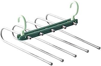 Multifunctionele 5 in 1 draagbare roestvrij stalen broek hanger drogen rack magic belt opslag rack ruimte besparen woonacc...