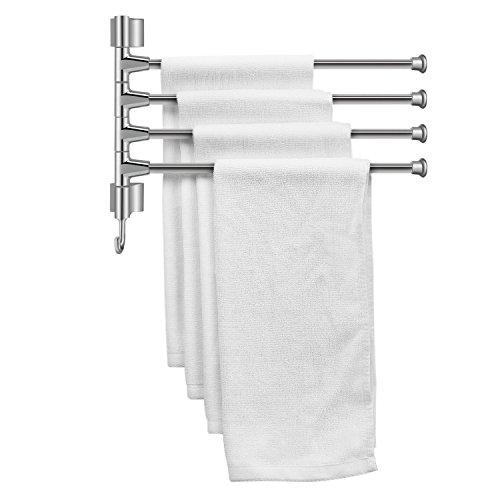 Flexzion Porte-serviettes mural pivotant à 4 barres...