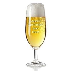 Leonardo Bierglas mit Gratis-Gravur   inkl. Wunsch-Text   individuelles Geschenk für Biertrinker   Geschenke für Männer   Biertulpe als Geburtstagsgeschenk