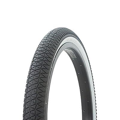 Fenix Cycles Wanda BMX Tread Bicycle Tire 20 x 1.95, for Bikes, Black/White