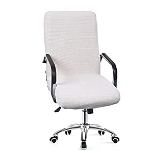 Dyda6 – Funda para silla de ordenador de tela elástica, impermeable, antipolvo, diseño sencillo de cuadros, protector…