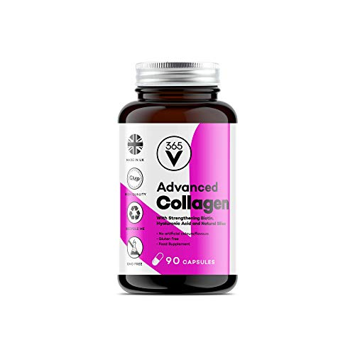 Marine Collagen Supplement for Women - High Strength Collagen Tablets for Skin, Hair, Nails and Joints (90 Capsules)
