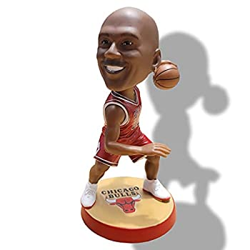 AKAFFICE Michael Jordan Action Figure Statue Bobblehead Basketball Doll  7x5.4x8.8 inch  Used as Car Office and Home Decoration or Gifts for Friends and Families.