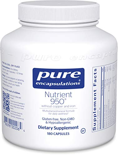 Pure Encapsulations - Nutrient 950 Without Copper & Iron - Hypoallergenic Multi-Vitamin/Mineral Formula for Optimal Health - 180 Capsules