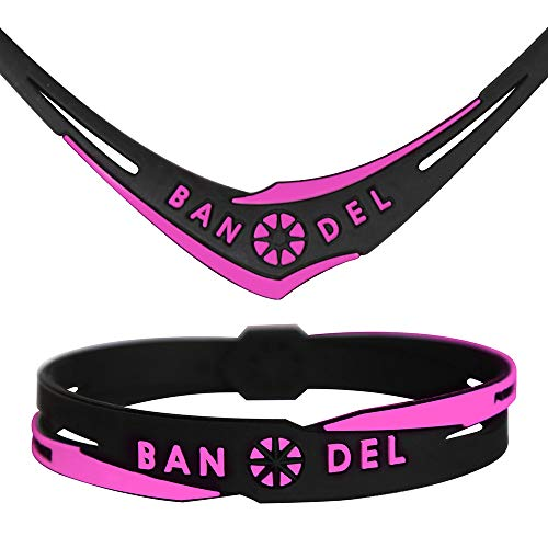 バンデル クロス ネック&ブレス セット ブラック×ピンク Lサイズ